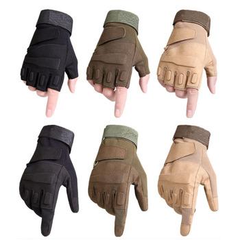 Taktyczna wojskowa pełne rękawiczki pół palcowe rękawiczki na pistolety do airsoft motocyklowe męskie rękawice ogrodowe tanie i dobre opinie KUZEEBAN Fabric Pasuje prawda na wymiar weź swój normalny rozmiar FCST0003 Green Sand Black Tactical glove for men Half finger Full Finger Glove