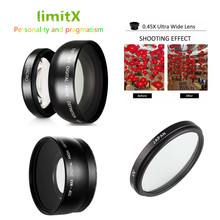 37 millimetri 0.45X Super Wide Angle Lens Macro e Filtro UV per Olympus EM10 II OM D E M10 / Mark I II III IV 1 2 3 4 con 14 42 millimetri Lenti
