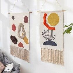 Colgante bohemio tapiz tela accesorios de decoración del hogar vatios-hora Metro caja cubierta dormitorio Hotel colgante de pared manta Decoración