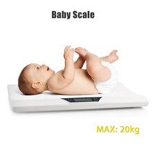Весы для новорожденных, домашних животных, детские весы Abs с ЖК-дисплеем, электронные весы для малышей, цифровые профессиональные весы до 20 кг