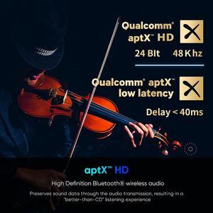 Image 4 - MR275 беспроводной bluetooth 5,0 аудио передатчик aptX HD ll оптический коаксиальный 3,5 мм Aux RCA аудио приемник адаптер двойной связи ТВ ПК