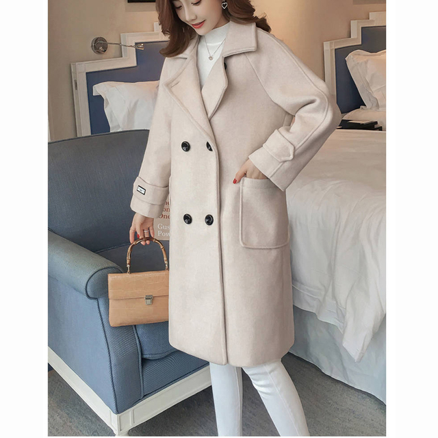 2019 autumn winter Women korean wool coat jakects