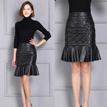 2020 Women New Real Genuine Sheep Leather Skirt K2 2020 new fashion real genuine sheep leather skirt g16