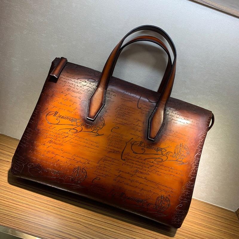 Men Handbag Briefcase Bag High Quality Business Famous Brand Leather Shoulder Messenger Bags Office Handbag