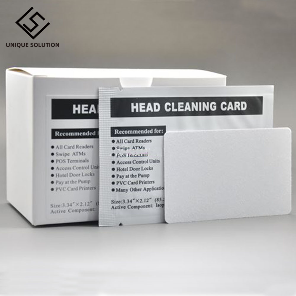 100PCS Hotel Door Lock Card Reader ATM Cleaning Card Atm Swipe Dip Card Readers Cleaning Card