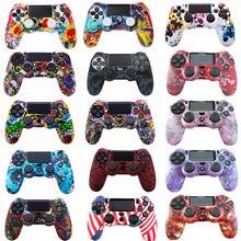 Camouflage ซิลิโคนอ่อนป้องกันกรณีผิวสำหรับ Sony PlayStation 4 PS4 สำหรับ DualShock 4 Controller สำหรับ PS4 Pro Slim