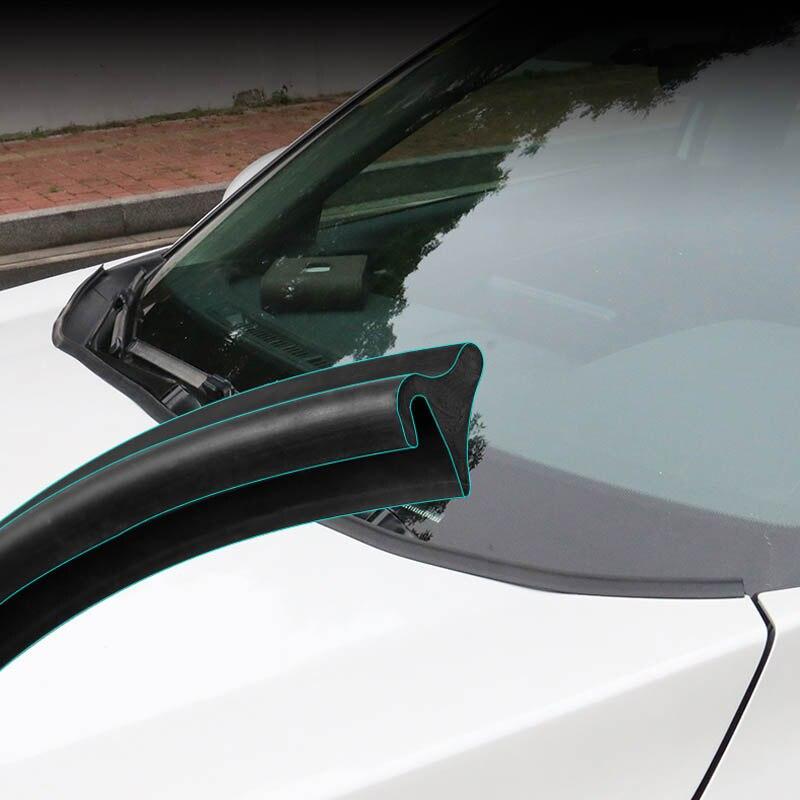 Image 2 - 1,8 м автомобильный герметик для окна, резиновый протектор, уплотнительная полоса, отделка авто, передний спойлер на лобовое стекло, универсальный автомобильный внешний аксессуарТюнинговые молдинги    АлиЭкспресс