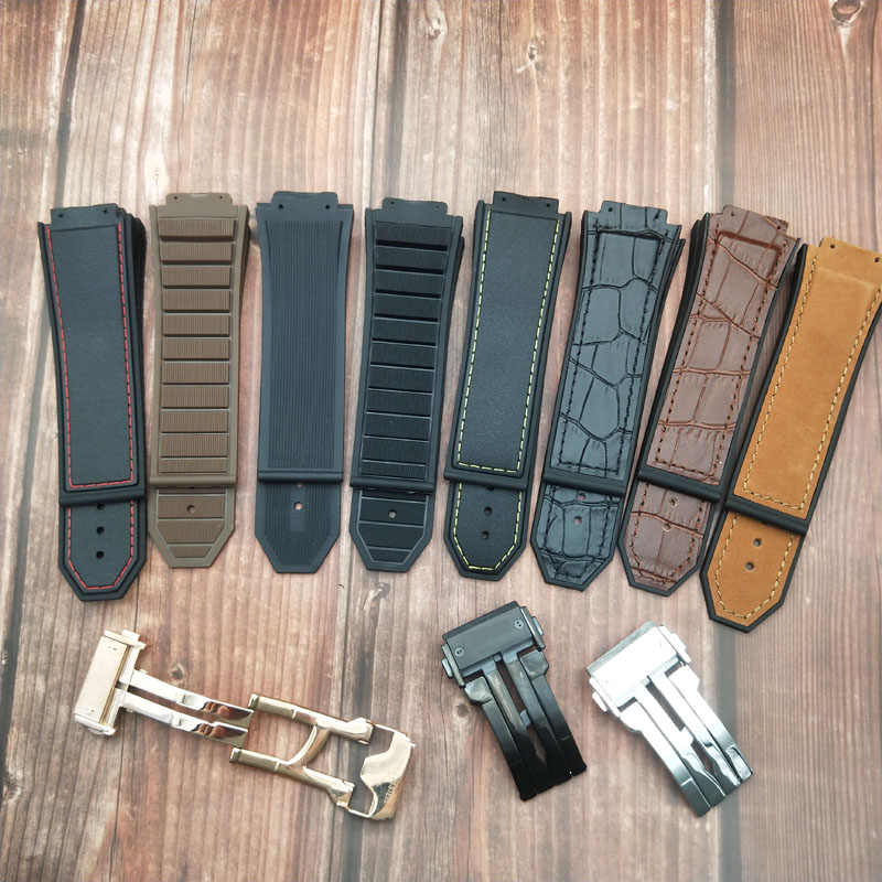 Molle del silicone di gomma naturale cinturino impermeabile per Hublot-strap per il re-power-accessori 29mm x 19mm watch band-braccialetto-strumenti