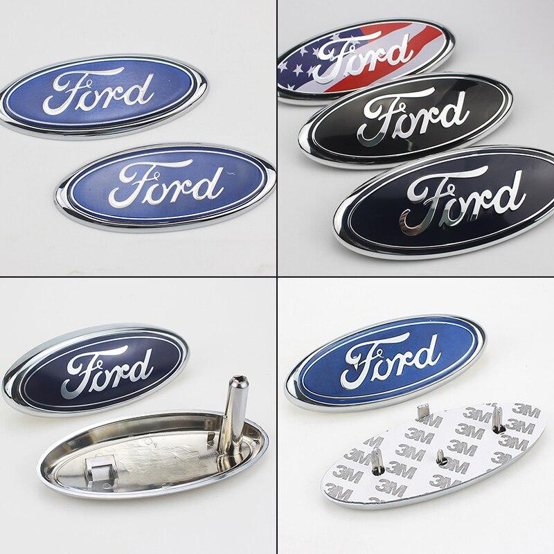 Автомобильный капот Передняя Эмблема задний значок наклейка для Fords Focus 2 3 1 Fiesta MK1 MK2 MK3 MK7 Fusion Ranger автомобильные аксессуары Автомобильные тов...