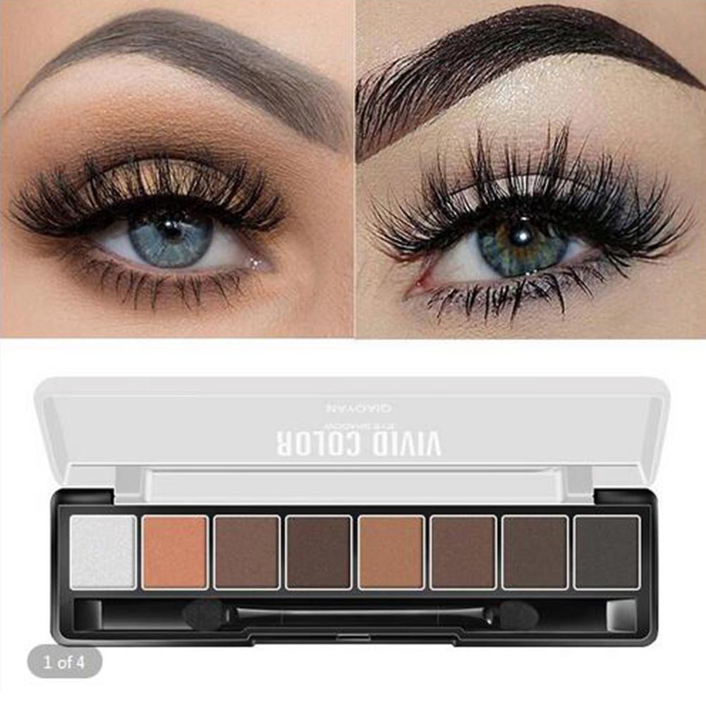 Portable Grapefruit Color Eyeshadow Pallete Mermaid Shimmer Matte Smoked Makeup 8 Colors Eye Shadow Beauty Glazed