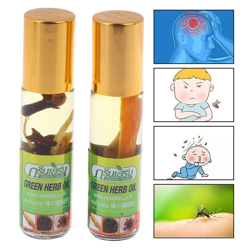 8 мл натуральный бальзам бальзам тайский зеленый травы масло травы тайланд зеленый мазь мышцы боль облегчение мазь соединение эфирное масло масло