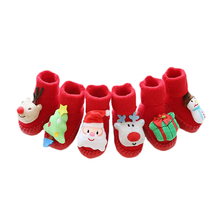 Baby Socks Infant-Accessories Anti-Slip Christmas Soft-Sole Warm Winter Boys Kids Autumn