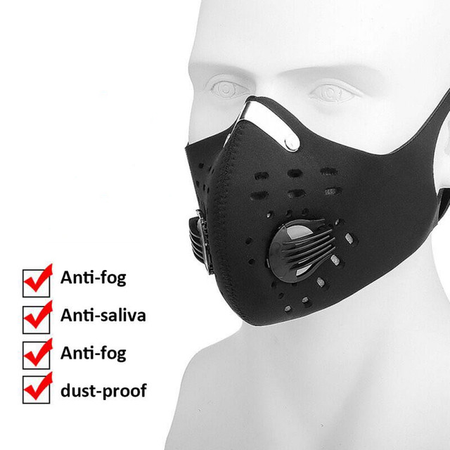 10PCS Motorcycle/Cycling Face Mask Filter Anit-fog Anit-pollution Breathable PM2.5 Activ Carbon Respirator Sports Bike Dust Mask
