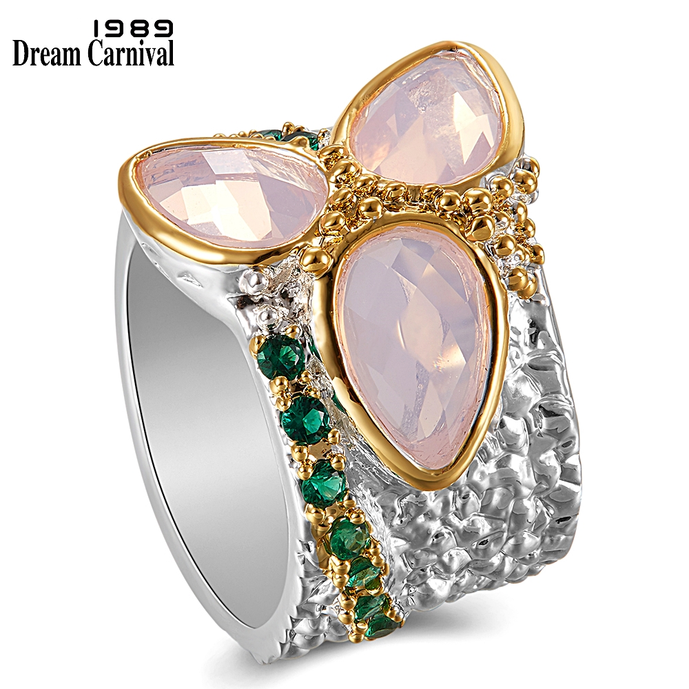 WA11736 Tri-Zirconia Rings Dreamcarnival1989 top selling unique jewelry (1)