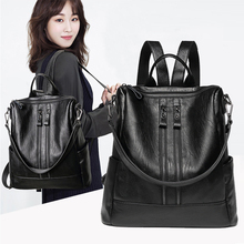 Luxury Cow Leather Backpack Women Bags Designer Fashion Shoulder Crossbody Bag for Women Multifunction portable bags Schoolbag