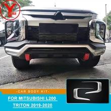 Kit de protection de pare-chocs avant et inférieur, en argent, garniture de moulage avant et bas, pour Mitsubishi L200 Triton 2019 2020