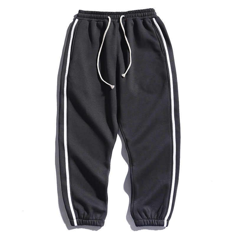 Xiao Yudian spodnie męskie nowe mody męskie spodnie dresowe elastyczny pas sznurkiem polarowe spodnie Harem Streetwear męskie spodnie
