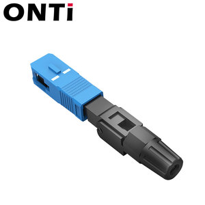 Image 4 - ONTi 200pcs SC UPC Single Mode Fiber Optic Fast Connector SC APC FTTH SC Quick Connector SC Adapter Field Assembly