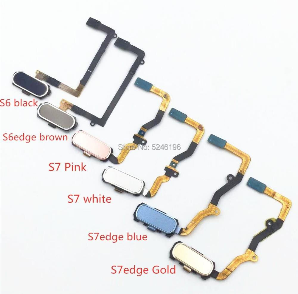 1pcs Home Return Key Menu Button Fingerprint Sensor Flex Cable For Samsung Galaxy S6 S6edge S7 S7edge Touch Repair Part