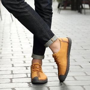 Image 5 - Zapatos informales para hombre mocasines planos de cuero, transpirables, de talla grande, gran oferta