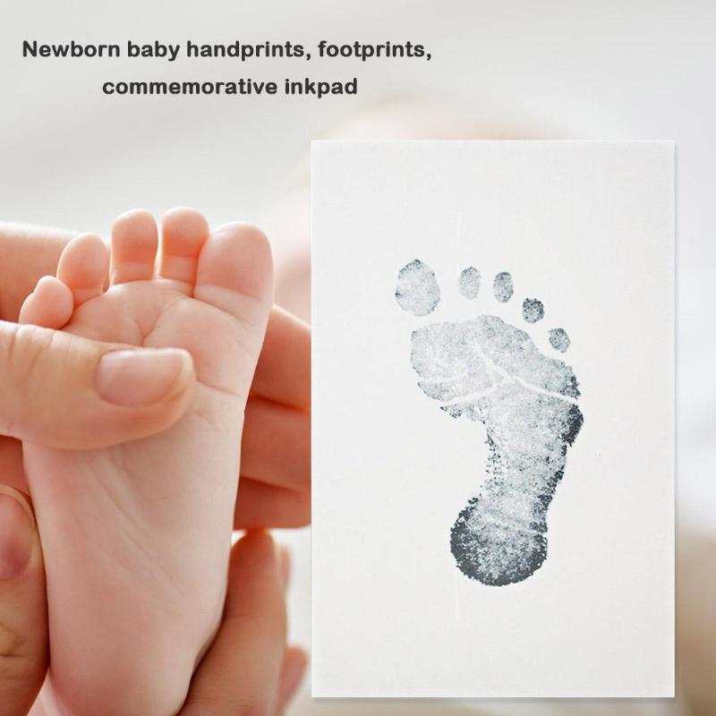 Baby Ink Pad Footprint Handprint Kit Clear Texture Strong Durable Bright Color Lovely DIY Growth Souvenir Safe Print