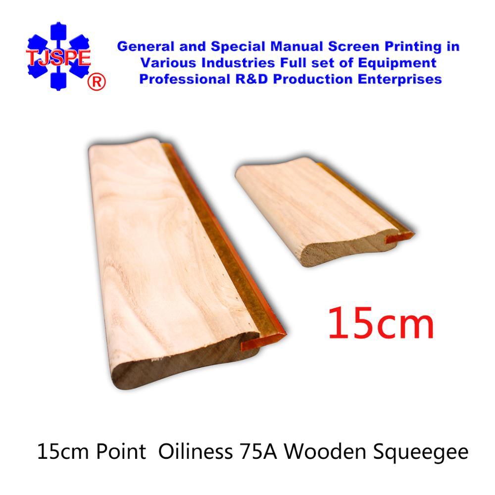 15cm Oiliness Squeegee 75 Durometer Screen Printing Scraper Screen Press 75A Squeegee