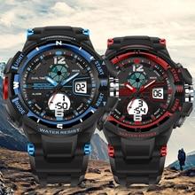 Sanda Multicolor Watch Waterproof Electronic Wrist For Men Military Sport Led Analog Digital Montre Homme