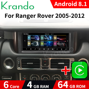 Krando 10.25 Android 9.0 4G 64G Car Radio Audio Multimedia Player For Land Rover Range 2005-2012 Denso Host GPS Navi WIFI image