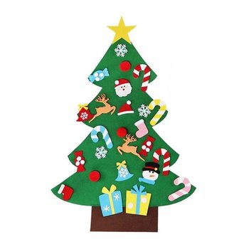 Creative DIY Felt Christmas Tree New Year Gifts Kids Toys Artificial Tree Wall Hanging Ornaments Christmas Decoration for Home diy felt christmas tree new year gifts kids toys artificial tree wall hanging ornaments christmas decoration for home