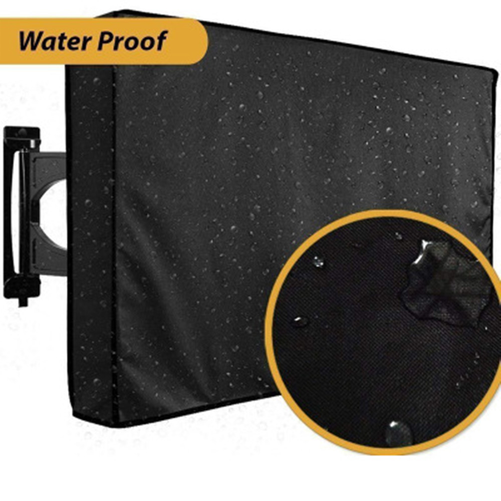 Durable TV Cover Dustproof And Waterproof Screen Cover 22'' To 65'' Inch Oxford Black Wrap Television Case Air Conditioning