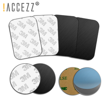 !ACCEZZ Round Magnetic Metal Plate Disk For Car Phone Holder Iron Sheet Sticker Thin Magnet Mobile Bracket Accessory