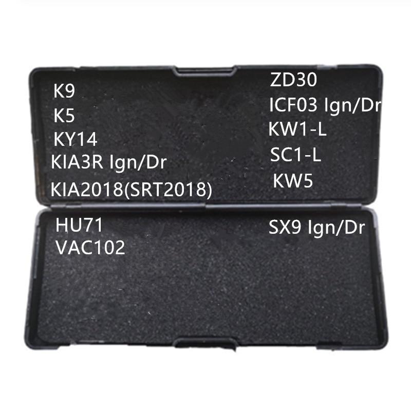 Подлинный LiShi 2 в 1 слесарный инструмент K9 K5 KY14 KIA3R KIA2018(SRT2018) HU71 VAC102 SX9 ZD30 ICF03 SX9 VAC102 KW5 SC1-L KW1-L
