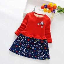 все цены на Girls Dress Winter Autumn Warm Floral Princess Dress For Casual Cotton Children Clothing Kids  Plaid Wedding Dress 40 онлайн