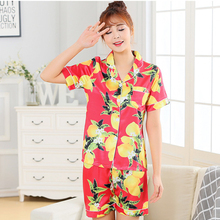 new simulation silks pajamas Ladies product short-sleeved shorts two-piece home service sets