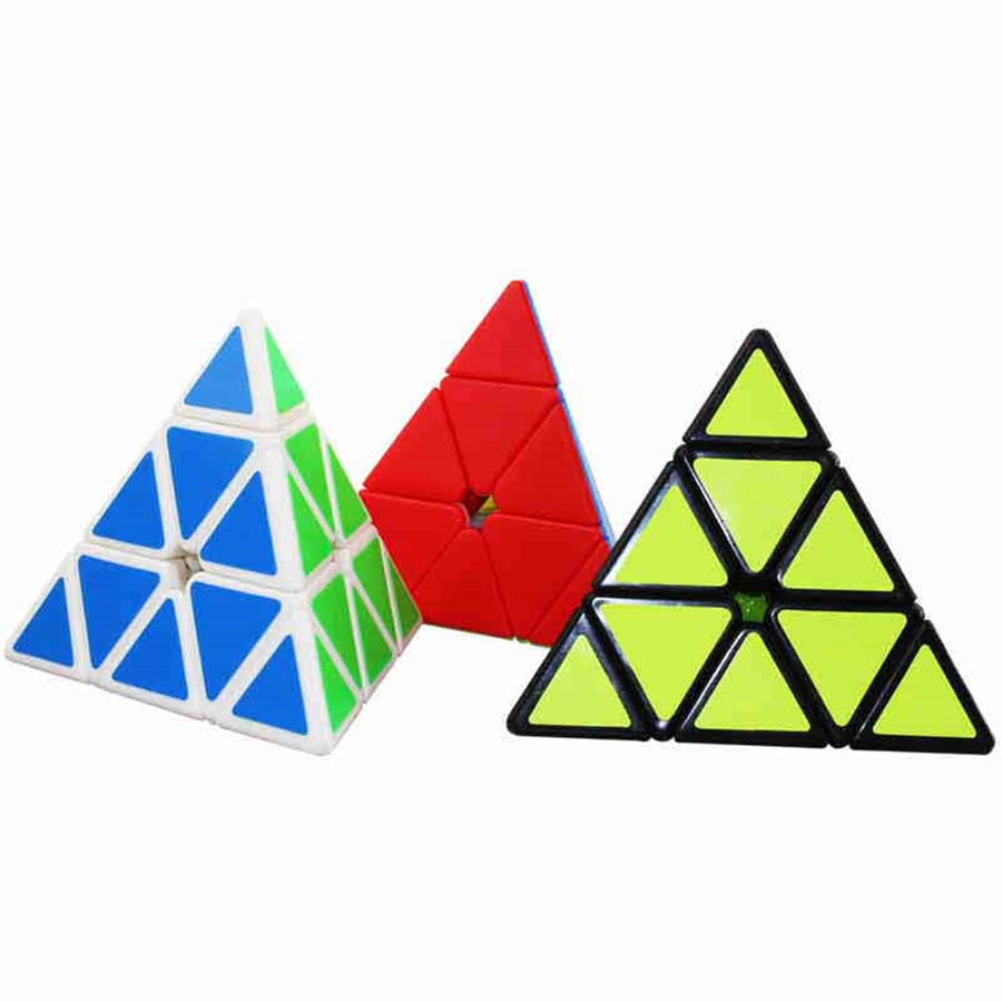 Magic Cubes Stress Reliever Cubos Magicos Puzzles Antistress Cubes Brinquedo Educativo Pyramid Cube Kids Toys DD60MF(China)