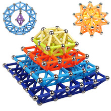 wholesale Magnet Toy Bars Magnetic Building Blocks Construction Toys For Children Designer Educational Toys For Kids Metal Balls qwz new magnet toy bars