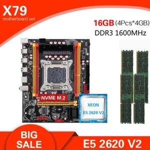 Kllisre X79 carte mère à jeu de puces LGA2011 mini-atx combos E5 2620 V2 CPU 4 pièces x 4GB = 16GB DDR3 1600Mhz ECC mémoire(China)