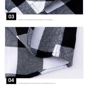 Image 5 - AOLIWEN แฟชั่นผู้ชายแขนยาวลายสก๊อตผ้าฝ้าย 100% สบาย Multi สีฤดูร้อนใหม่ผู้ชายแฟชั่นเสื้อต่ำราคา M 5XL