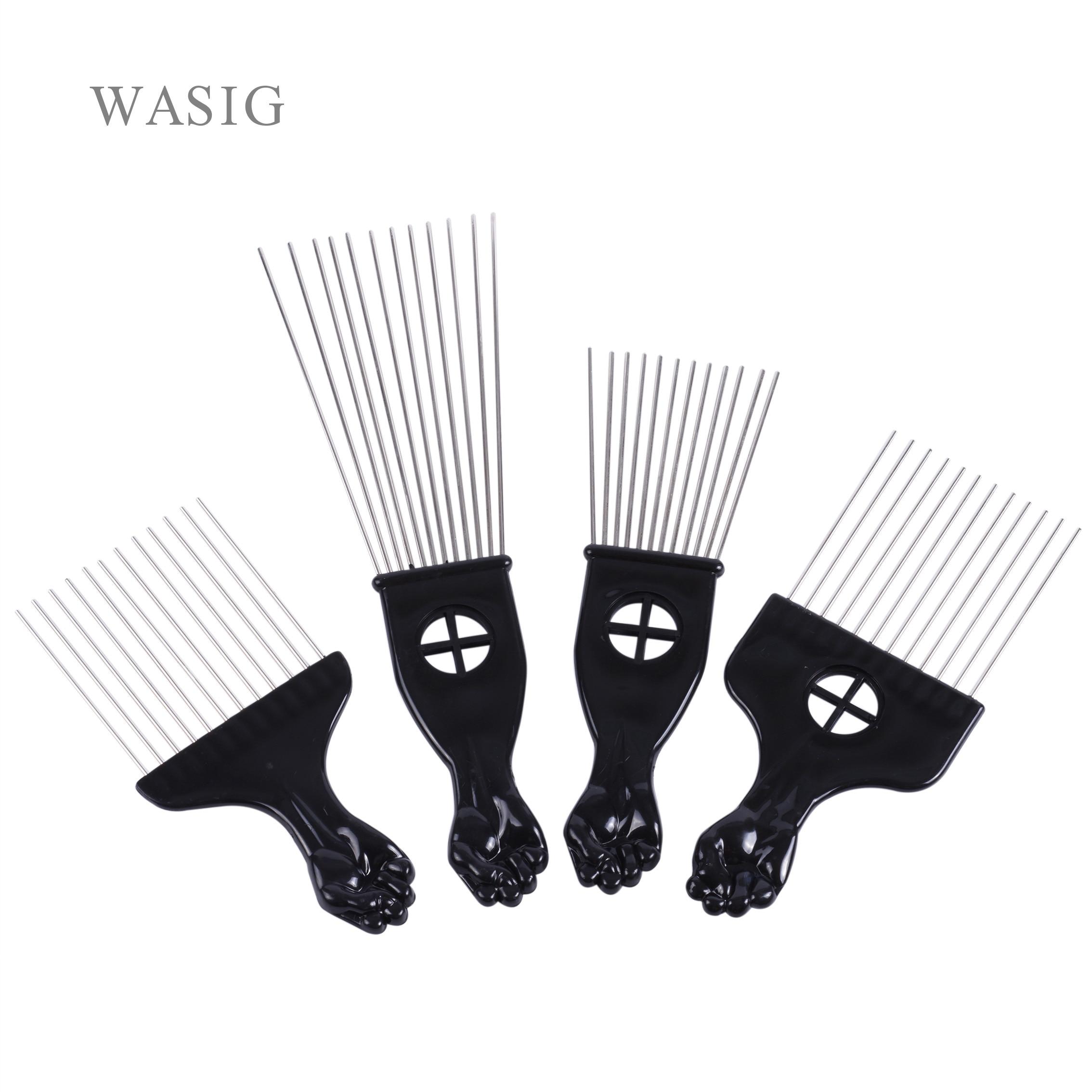 Салон Применение черный металл-американском стиле Палочки расчески для волос афро гребень для волос для парикмахерский инструмент для укл...