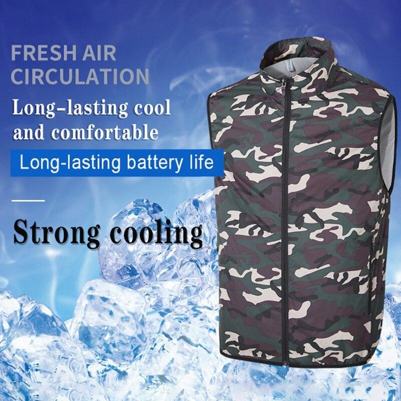 Вентилятор USB Охлаждающий походный жилет для рыбалки и езды на велосипеде, Воздухопроницаемый жилет для кондиционирования воздуха на откры...