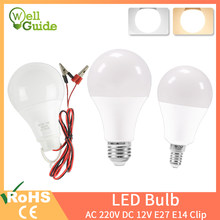 Dimmable LED E27 E14 ampoule lampes 220V DC12V haute luminosité ampoule 24W 20W 18W 15W 12W 9W 5W 3W LED E14 blanc chaud blanc froid