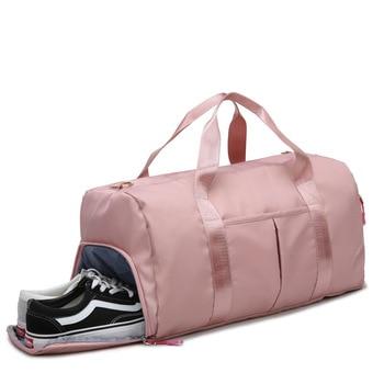 Ougger Big Luggage Bag Travel Large Capacity Women's Backpacks Pink Nylon Fashion Classic Large Capacity Camping Fitness Bag