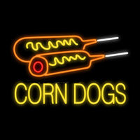 Corn Dogs Hot Dogs Fair Food Neon Sign Custom Handmade Real Glass Tube Beer Bar Party Home Decoration Display Neon Signs 28X18