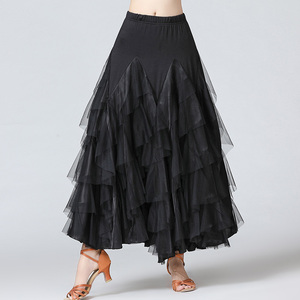 Image 5 - חדש נשים ואלס סלסה רומבה סלוניים ריקוד תלבושות חצאיות נשים ריקודים סלוניים חצאיות ספרד ריקוד ביצועים