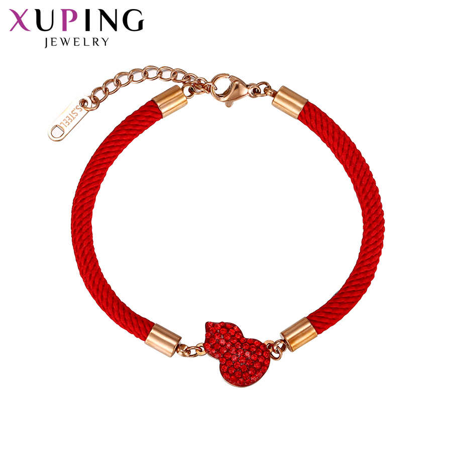 11.11 Deals Xuping Retro Bracelets Stainless Steel Personalized Fashion Jewelry Chinese style Family Party Gift Women S186-76681