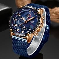 ييج أزياء رجالي ساعات الأعلى العلامة التجارية الفاخرة ساعة اليد ساعة الكوارتز الأزرق ووتش الرجال للماء الرياضة كرونوغراف Relogio Masculino