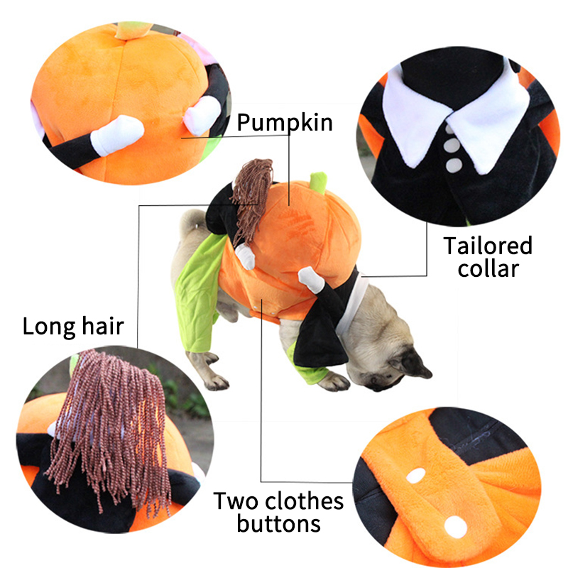 Image 4 - Dog Clothes Halloween Funny Pet Pumpkin Costume Pet Cosplay Special Events Apparel Outfit Dog Cute CostumesCat Clothing   -