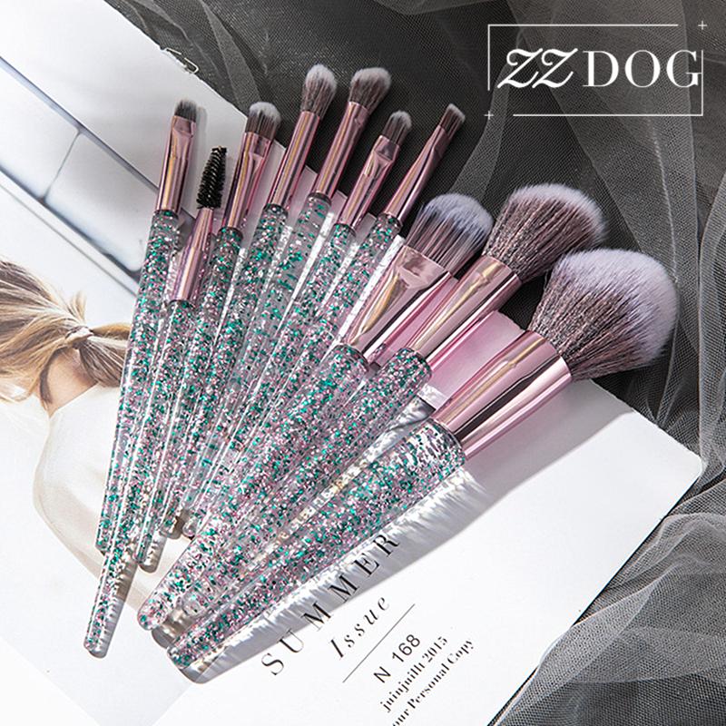 ZZDOG 7/10Pcs High Quality Cosmetic Tool Kit Soft Makeup Brushes Set Eye Shadow Powder Foundation Eyebrow Blending Beauty Brush