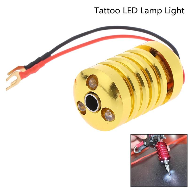 Creative DIY LED Light Aluminum Tattoo Machine Grip Tubes With Back Stem Tattoo Gun Handle Grip With LED Lamp Supplies 28mm*50mm