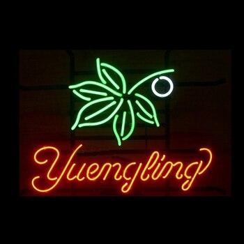 "Yuengling Marijuana Weeds Leaf Neon Sign Handmade Real Glass Tube Beer Bar KTV Shop Store Pub Hotel Display Neon Signs 17""X14"""